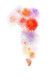 kleurrijk vuurwerk nummer 1 voor 2017 - mooie kleurrijke firew Stock Afbeeldingen