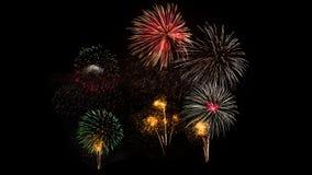 Kleurrijk vuurwerk op Khao Wang Royalty-vrije Stock Foto