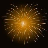 Kleurrijk vuurwerk op zwarte achtergrond Stock Fotografie