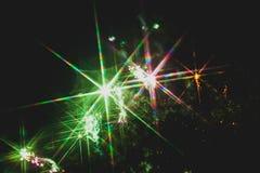 Kleurrijk vuurwerk over een nachthemel Stock Afbeeldingen