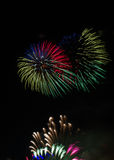 Kleurrijk Vuurwerk over Keulen Stock Foto