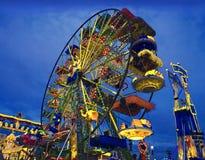 Kleurrijk Wiel bij Luna Park Royalty-vrije Stock Afbeelding