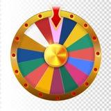 Kleurrijk wiel van infographic geluk of fortuin Vector illustratie royalty-vrije illustratie