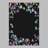 Kleurrijk willekeurig de kantoorbehoeftenmalplaatje van het Kerstmisontwerp - leeg van de de winterbrochure ontwerp als achtergro Royalty-vrije Stock Foto's