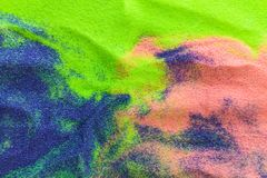 Kleurrijk zand als achtergrond stock fotografie
