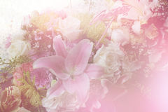 Kleurrijk zoet die bloemboeket op achtergrond wordt geïsoleerd close-up Royalty-vrije Stock Foto's