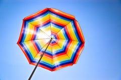 Kleurrijk zonnescherm Stock Foto