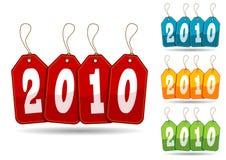 Kleurrijke 2010 markeringen Stock Fotografie