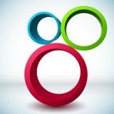 Kleurrijke 3D cirkelachtergrond. stock illustratie