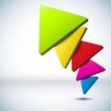 Kleurrijke 3D driehoeksachtergrond. royalty-vrije illustratie