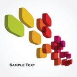 Kleurrijke 3d kubussen Stock Afbeelding