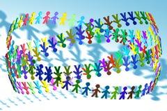 Kleurrijke 3D mensen royalty-vrije illustratie