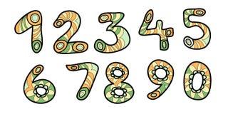 Kleurrijke aantallen Royalty-vrije Stock Afbeeldingen