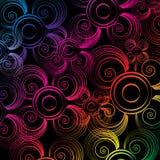 Kleurrijke aantrekkelijke behangsamenvatting Stock Foto's