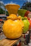 Kleurrijke aardewerkclose-up in Honduras Royalty-vrije Stock Afbeeldingen