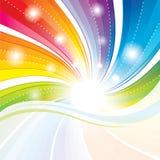 Kleurrijke abstracte achtergrond. stock illustratie