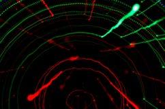 Kleurrijke abstracte achtergrond, die motieonduidelijk beeld van tunnel gebruiken ligh Stock Foto