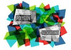 Kleurrijke abstracte achtergrond die uit glasveelhoeken bestaan Vector illustratie vector illustratie