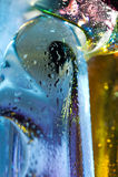 Kleurrijke abstracte achtergrond. Het glas laat vallen water. Royalty-vrije Stock Foto