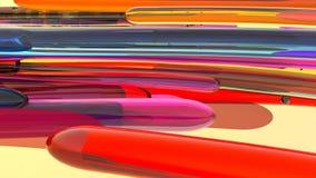 Kleurrijke abstracte achtergrond, lijnen het 3d teruggeven Stock Illustratie