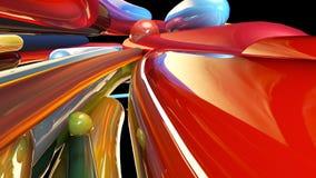 Kleurrijke abstracte achtergrond, lijnen het 3d teruggeven Royalty-vrije Illustratie