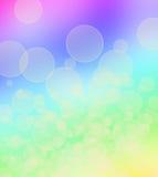 Kleurrijke abstracte achtergrond met cirkels van licht Royalty-vrije Stock Foto