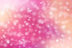 Kleurrijke abstracte achtergrond met sneeuwvlokken het vallen Stock Foto's