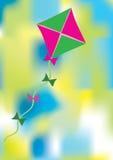 Kleurrijke abstracte achtergrond met vlieger Royalty-vrije Stock Foto