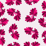 Kleurrijke abstracte achtergrond van het bloemblaadjes de roze patroon Stock Foto