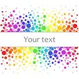 Kleurrijke abstracte achtergrond van kleurrijke punten, cirkels met plaats voor uw tekst royalty-vrije illustratie