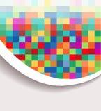 Kleurrijke abstracte banner royalty-vrije illustratie