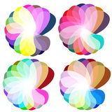 Kleurrijke abstracte bloem stock illustratie