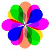 Kleurrijke abstracte bloem Stock Afbeeldingen