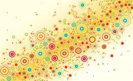 Kleurrijke abstracte bloemachtergrond Royalty-vrije Stock Afbeeldingen