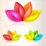 Kleurrijke abstracte bloemen royalty-vrije stock afbeeldingen