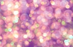 Kleurrijke abstracte bokehachtergrond, purpere kleur Royalty-vrije Stock Afbeelding