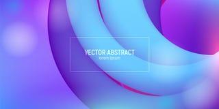Kleurrijke abstracte 3d stroomvormen Vloeibare golf moderne achtergrond Heldere Golfaffiche met Vloeibare Vloeistof Vector vector illustratie