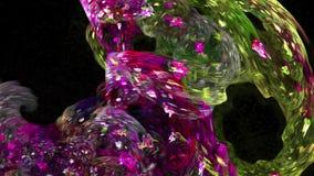 Kleurrijke abstracte de motieachtergrond van het vormenpatroon royalty-vrije illustratie