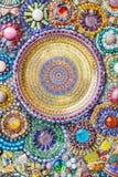 Kleurrijke abstracte de muurachtergrond van de mozaïekkunst Royalty-vrije Stock Foto