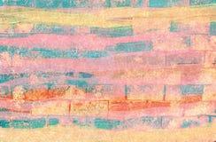 Kleurrijke abstracte de verfachtergrond van de kunstwaterverf Royalty-vrije Stock Afbeelding