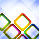 Kleurrijke Abstracte Diamanten Stock Afbeelding
