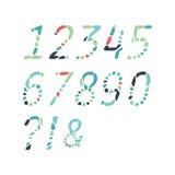 Kleurrijke abstracte die aantallen van mozaïeken worden gemaakt royalty-vrije illustratie