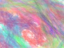 Kleurrijke abstracte fractal met chaotische borstelslagen Stock Foto's