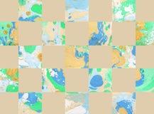 Kleurrijke abstracte geometrische achtergrond met vierkanten Royalty-vrije Stock Fotografie