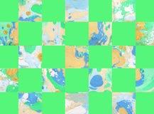 Kleurrijke abstracte geometrische achtergrond met vierkanten Royalty-vrije Stock Afbeeldingen