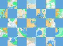 Kleurrijke abstracte geometrische achtergrond met vierkanten Stock Afbeelding