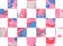 Kleurrijke abstracte geometrische achtergrond met vierkanten Stock Foto