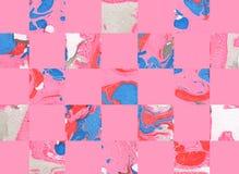 Kleurrijke abstracte geometrische achtergrond met vierkanten Royalty-vrije Stock Foto's