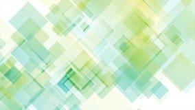 Kleurrijke abstracte geometrische vierkanten videoanimatie vector illustratie