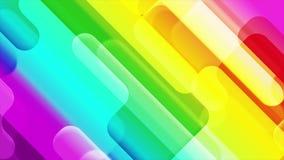 Kleurrijke abstracte geometrische vormen videoanimatie vector illustratie